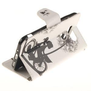 Obrázkové koženkové puzdro pre LG G5 - láska na bicykli - 6