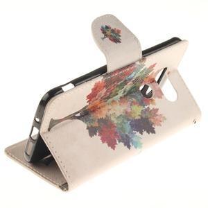 Obrázkové koženkové puzdro pre LG G5 - farebný strom - 6