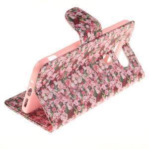 Obrázkové koženkové pouzdro na LG G5 - růže - 6