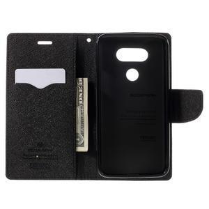 Goos stylové PU kožené pouzdro na LG G5 - hnědé - 6