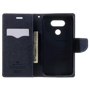Goos stylové PU kožené puzdro pre LG G5 - zelené - 6