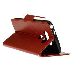 Lees peňaženkové puzdro pre LG G5 - hnedé - 6