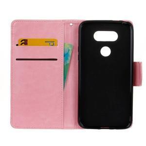 Lees peňaženkové puzdro pre LG G5 - ružové - 6