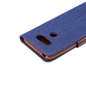 Jeans peněženkové pouzdro na LG G5 - tmavěmodré - 6