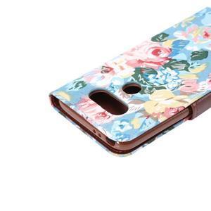 Květinové pouzdro na mobil LG G5 - modrý vzor - 6