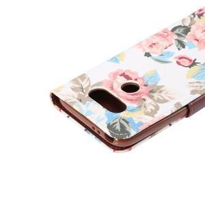 Kvetinové puzdro pre mobil LG G5 - biely vzor - 6