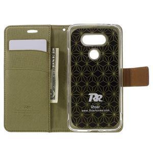 Diary PU kožené pouzdro na mobil LG G5 - khaki - 6
