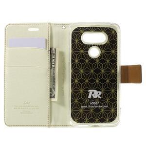 Diary PU kožené pouzdro na mobil LG G5 - bílé - 6
