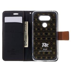 Diary PU kožené puzdro pre mobil LG G5 - čierne - 6