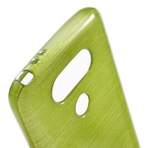 Hladký gelový obal s broušeným vzorem na LG G5 - zelený - 6
