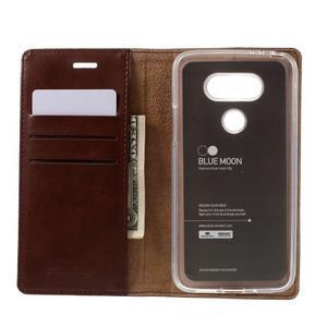 Luxury PU kožené puzdro pre mobil LG G5 - hnedé - 6