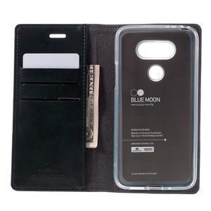 Luxury PU kožené puzdro pre mobil LG G5 - tmavomodré - 6