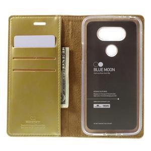 Luxury PU kožené puzdro pre mobil LG G5 - zlaté - 6