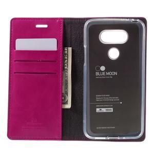 Luxury PU kožené pouzdro na mobil LG G5 - rose - 6