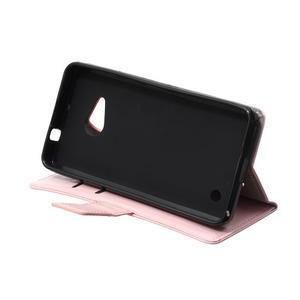 GX koženkové puzdro pre mobil Microsoft Lumia 550 - ružové - 6