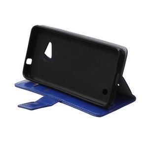 GX koženkové puzdro pre mobil Microsoft Lumia 550 - modré - 6