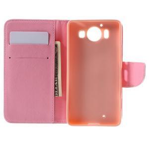 Peňaženkové puzdro pre Microsoft Lumia 950 - srdce - 6