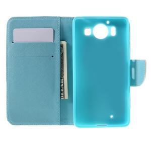 Peňaženkové puzdro pre Microsoft Lumia 950 - malované srdce - 6