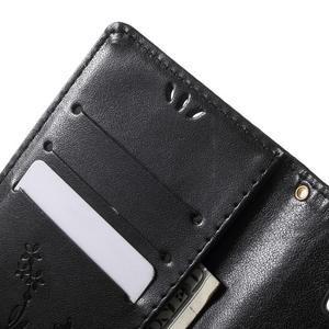 Butterfly PU kožené puzdro pre Microsoft Lumia 950 - čierne - 6