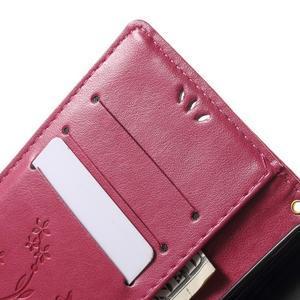 Butterfly PU kožené puzdro pre Microsoft Lumia 950 - rose - 6