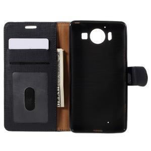 Cloth Peňaženkové puzdro pre mobil Microsoft Lumia 950 - čierne - 6