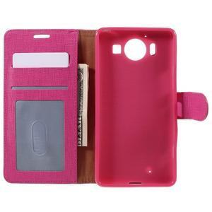 Cloth peněženkové pouzdro na mobil Microsoft Lumia 950 - rose - 6