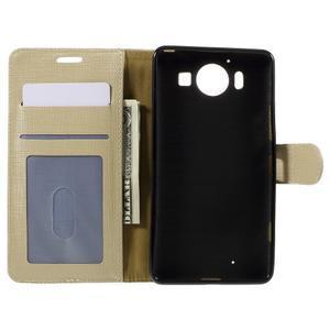 Cloth Peňaženkové puzdro pre mobil Microsoft Lumia 950 - champagne - 6