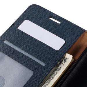 Cloth Peňaženkové puzdro pre mobil Microsoft Lumia 950 - tmavomodré - 6