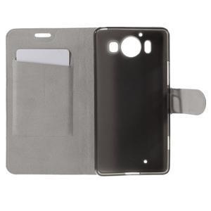 Horse PU kožené puzdro pre mobil Microsoft Lumia 950 - modré - 6