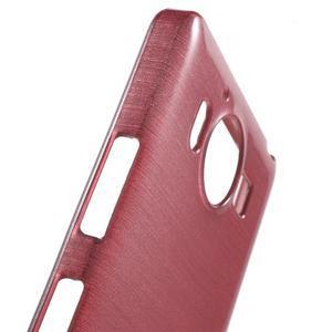Brush hladký gelový obal na Microsoft Lumia 950 - růžový - 6