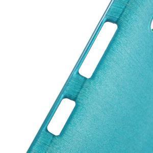 Brush hladký gelový obal na Microsoft Lumia 950 - modrý - 6