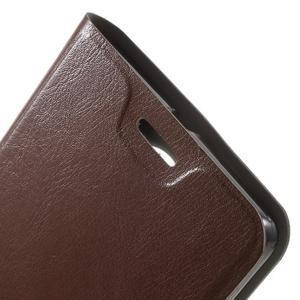 Horse peněženkové pouzdro na Microsoft Lumia 950 XL - hnědé - 6