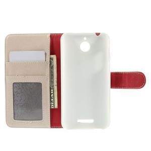 Folio PU kožené pouzdro na mobil HTC Desire 510 - bílé - 6