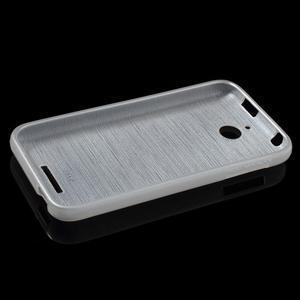 Brushed hladký gelový obal na HTC Desire 510 - transparentní - 6