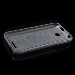 Brushed hladký gelový obal na HTC Desire 510 - šedý - 6
