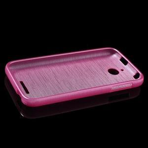 Brushed hladký gélový obal pre HTC Desire 510 - rose - 6