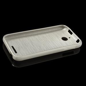 Brushed hladký gelový obal na HTC Desire 510 - zlatý - 6