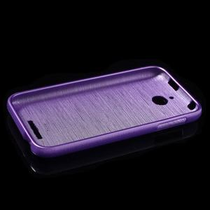 Brushed hladký gélový obal pre HTC Desire 510 - fialový - 6