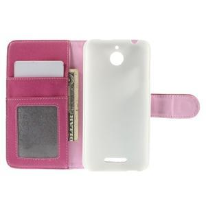 Folio PU kožené pouzdro na mobil HTC Desire 510 - rose - 6