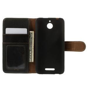 Folio PU kožené pouzdro na mobil HTC Desire 510 - černé - 6