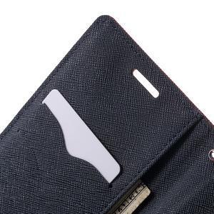 Diary PU kožené puzdro pre mobil HTC Desire 620 - červené - 6