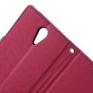 Diary PU kožené puzdro pre mobil HTC Desire 620 - rose - 6
