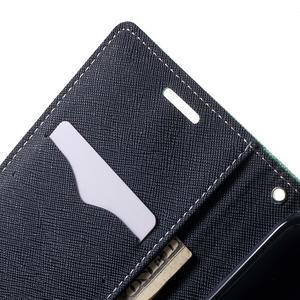 Diary PU kožené puzdro pre mobil HTC Desire 620 - cyan - 6