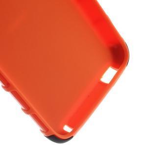 Outdoor odolný obal pre mobil HTC Desire 620 - oranžový - 6