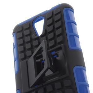 Outdoor odolný obal na mobil HTC Desire 620 - modrý - 6