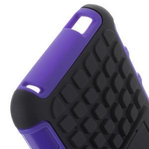 Outdoor odolný obal pre mobil HTC Desire 620 - fialový - 6