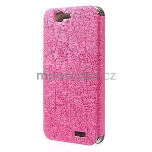 Klopové puzdro s okienkami na Huawei Ascend G7 - rose - 6