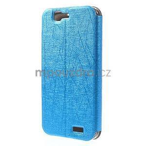 Klopové puzdro s okienkami na Huawei Ascend G7 - modré - 6