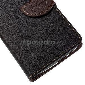 Čierne peňaženkové puzdro na Huawei Ascend G7 - 6
