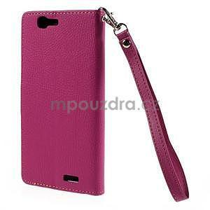 Rose peňaženkové puzdro na Huawei Ascend G7 - 6